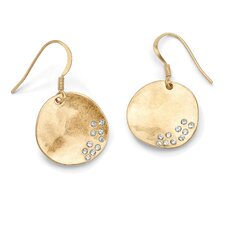 Round Austrian Crystal Disk Earrings