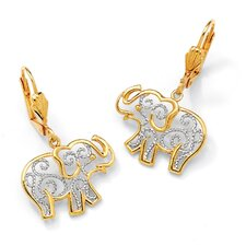 Filigree Elephant Pierced Earrings