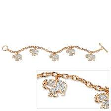 Filigree Elephant Charm Bracelet
