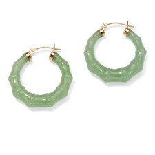 Green Jade 14k Pierced Earrings