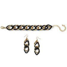 Curb Link Bracelet and Earring Set