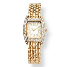 Crystal Bezel Bracelet Watch