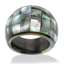 Dome Shaped Mother of Pearl Ring