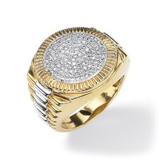 <strong>Palm Beach Jewelry</strong> Men's Diamond Ribbed Ring