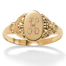 <strong>Palm Beach Jewelry</strong> 10k Yellow Gold Signet Ring