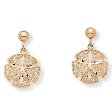 <strong>Palm Beach Jewelry</strong> Sand Dollar Drop Earrings