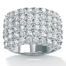 Round Cut Cubic Zirconia Statement Ring