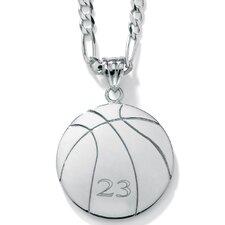 Sterling Silver Basketball Pendant