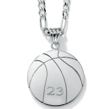 Sterling Silver Basketball Pendant