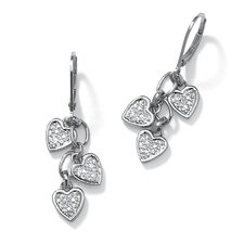 <strong>Palm Beach Jewelry</strong> Heart Cut Diamond Drop Earrings