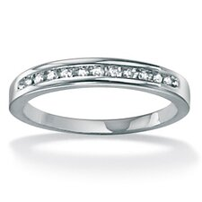 <strong>Palm Beach Jewelry</strong> Round Cut White Diamond Wedding Band