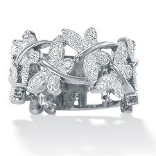 <strong>Palm Beach Jewelry</strong> Platinum Diamond Butterfly Band
