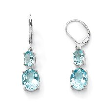 <strong>Palm Beach Jewelry</strong> Oval Cut Topaz Drop Earrings