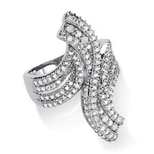 <strong>Palm Beach Jewelry</strong> Round Cut Ice Diamond Statement Ring