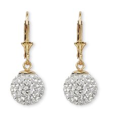 Round Cut Crystal Drop Earrings
