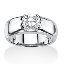 Men's Round Cut Cubic Zirconia Ring