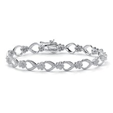 Diamond Flower-Link Bracelet