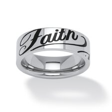 <strong>Palm Beach Jewelry</strong> Stainless Steel Faith Ring
