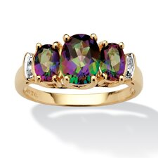 <strong>Palm Beach Jewelry</strong> 10k Gold Oval Cut Gemstone Accent Ring