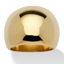 18k Gold-Plated Dome Ring