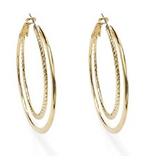 <strong>Palm Beach Jewelry</strong> Hoop Earrings