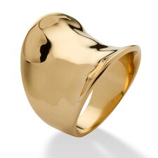 Concave Cigar 18k Gold-Plated Band Ring