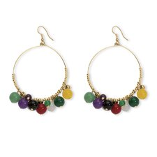 Multi-Colored Agate Beaded Earrings