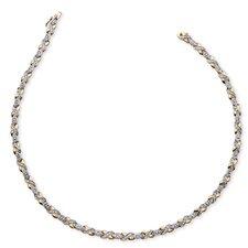 18k Gold-Plated Diamond Necklace