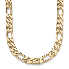 Men's Goldtone Figaro Chain