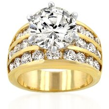 Women'S Goldtone Cubic Zirconia Ring