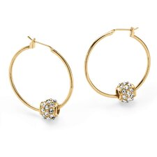 <strong>Palm Beach Jewelry</strong> Birthstone Bead Hoop Earrings
