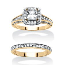2 Piece Cubic Zirconia Ring Set