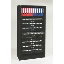 """78"""" Multimedia Tambour Cabinet"""