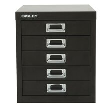 <strong>Bisley</strong> Five-Drawer Desktop Steel Storage Cabinet