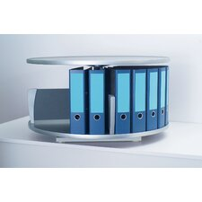 <strong>Empire Office Solutions</strong> Deluxe Desktop 1-Tier Rotary Binder Storage Carousel