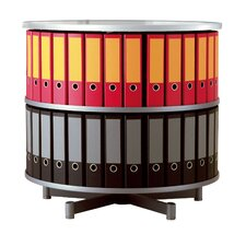 "Deluxe 32"" 2 Tier Rotary Binder Storage Carousel"