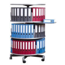 <strong>Empire Office Solutions</strong> Deluxe 3-Tier Rotary Binder Storage Carousel