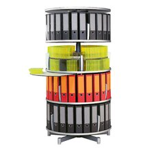 "Deluxe 32"" 4-Tier Rotary Binder Storage Carousel"