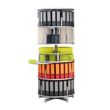 "Deluxe 32"" 5 Tier Rotary Binder Storage Carousel"