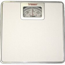 <strong>Trimmer</strong> Silver Frame Mechanical Bathroom Scale with Square Display
