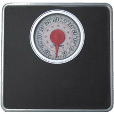 <strong>Trimmer</strong> Silver Frame Mechanical Bathroom Scale with Round Display