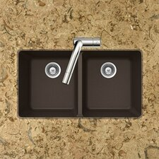 "<strong>Schock Houzer</strong> 33"" x 18.5"" Madison Series 50/50 Double Bowl Undermount Kitchen Sink"