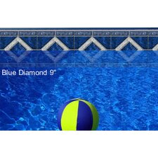 "Do-It-Yourself Designer 9"" Blue Diamond Pattern Borderlines Pool Makeover Kit"
