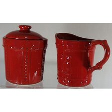 <strong>Signature Housewares</strong> Sorrento Ruby Sugar and Creamer Set
