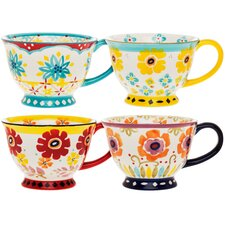 Flower Power 14 oz. Mug (Set of 4)