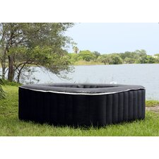 6-Person 130-Jet Square Hot Tub