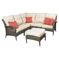 Laguna 6 Piece Sectional Deep Seating Group with Cushions