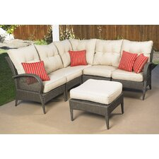 <strong>Mission Hills</strong> Laguna 6 Piece Sectional Deep Seating Group with Cushions