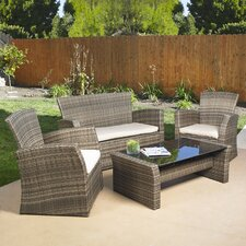 <strong>Mission Hills</strong> Redondo 4 Piece Lounge Seating Group with Cushions