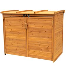 <strong>Leisure Season</strong> Wood Horizontal Refuge Storage Shed